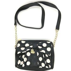 Betsey Johnson Perfect Polka Dot Bow Crossbody Bag